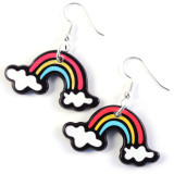 Funky Colourful Rainbow Earrings