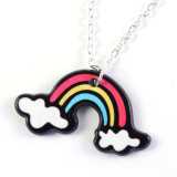 Funky Colourful Rainbow Necklace