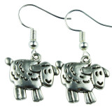 Baby Silver Lamb Dangle Earrings