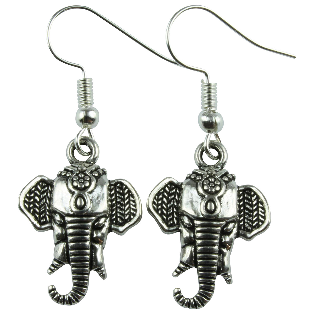 Elephant Head Dangle Earrings