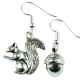 SQUIRREL & NUTS Dangle Earrings