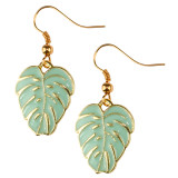 TROPICAL PALM LEAF Dangle Earrings