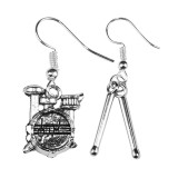MUSIC FESTIVAL Drums Dangle Earrings