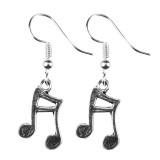 DOUBLE QUAVER NOTES Dangle Earrings