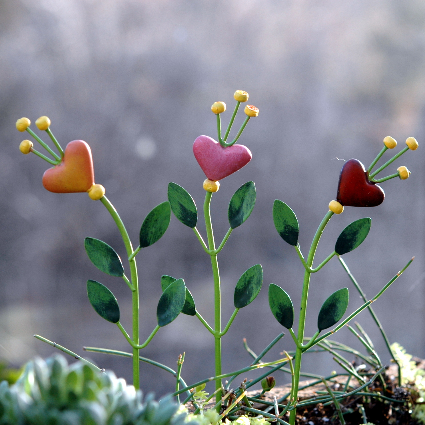 Miniature Merriment Heart Flower Picks