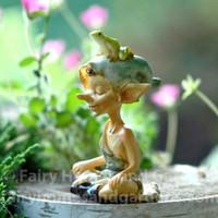 Pixie Meditating With Tiny Frog