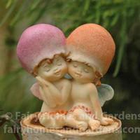 Miniature Fairy Babies with Mushroom Caps