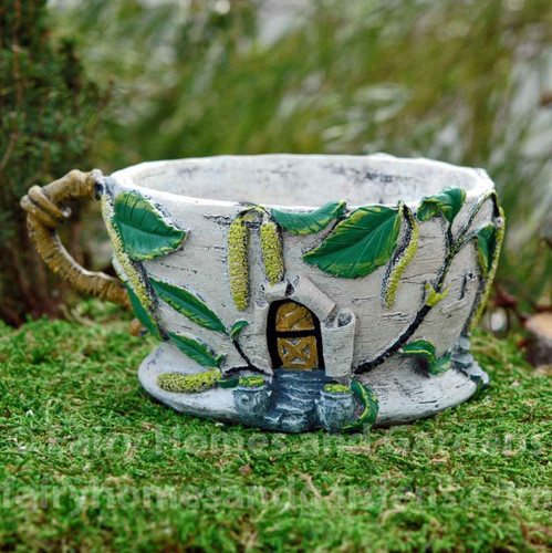 Birch Catkin Tea Cup Planter