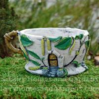 Birch Catkin Tea Cup Planter