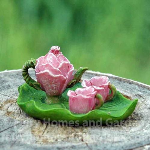 Miniature Flower Tea Set