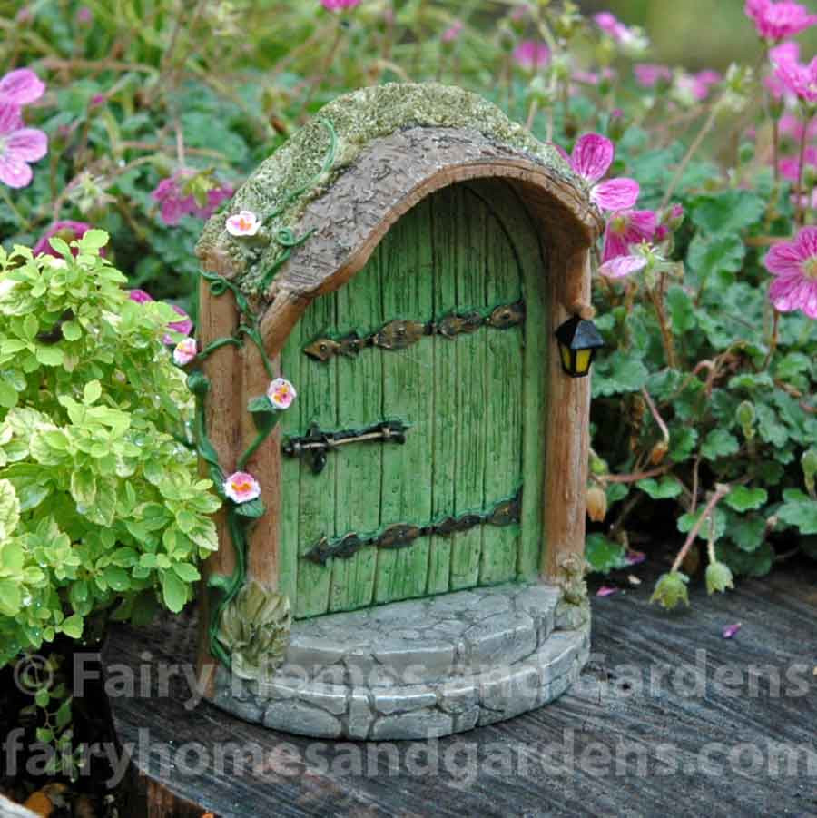 Mystical Green Fairy Door