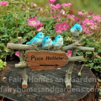 Miniature Pixie Hollow Sign