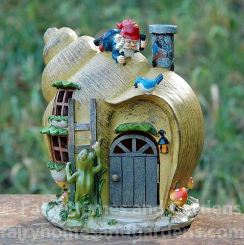 Solar Snail Shell Gnome House