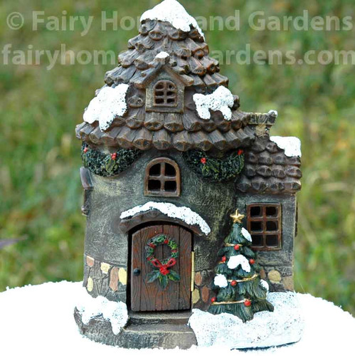 Holiday Fairy House with LED Light