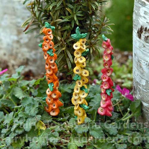 Miniature Merriment Hollyhocks - Set of 3