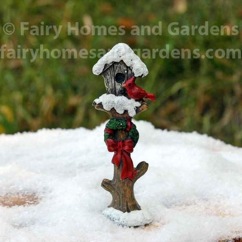 Miniature Holiday Bird House