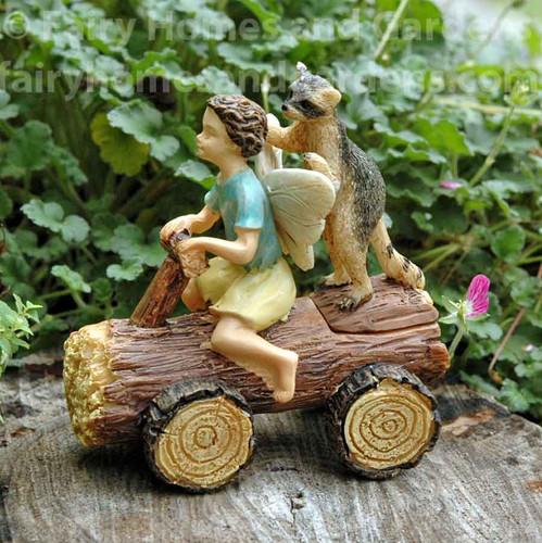 Miniature Fairy Boy with Raccoon