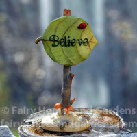"Miniature ""Believe"" Fairy Garden Sign"