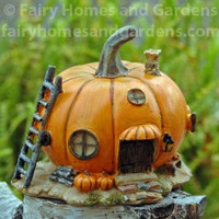 Miniature Pumpkin fairy Cottage Collectible