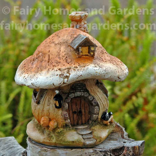 Miniature Mushroom Fairy Cottage