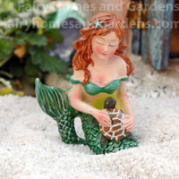 Miniature Mermaid with Sea Turtle