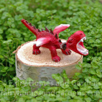 Miniature Red Baby Dragon Roaring