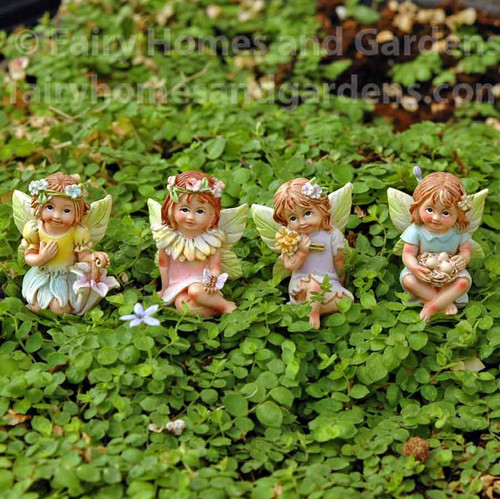 Miniature Spring Fairy Tale Fairies - Set of 4
