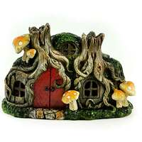Miniature LED Tree Stump House