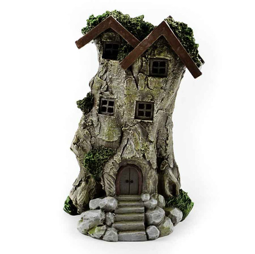 LED Tree Stump Fairy House