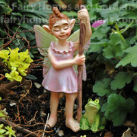 Swamp Land Fairy 'Flossy' and pet 'Froggie'