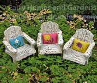 Miniature Fairy Garden Porch Chairs