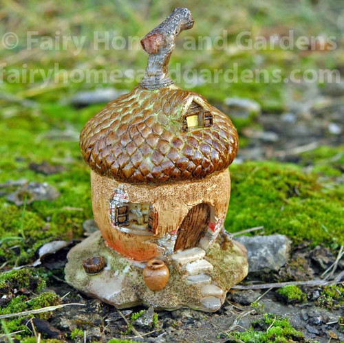 Miniature Acorn Fairy House