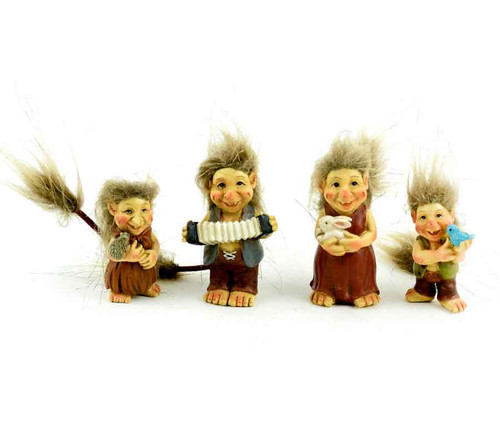 Miniature Garden Trolls - Family of Four