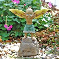 Miniature Garden Pixie Ready for Take Off