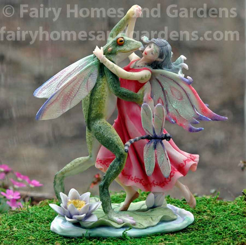 Fairy Dancing with the Frog Prince Figurine