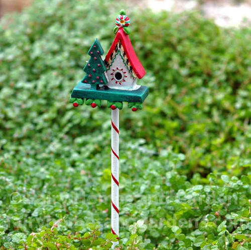 Miniature Christmas Birdhouse