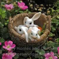 Three Bunnies in a Basket Collectible