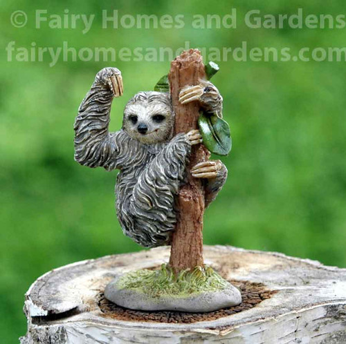 Miniature Sloth on a Tree Collectible