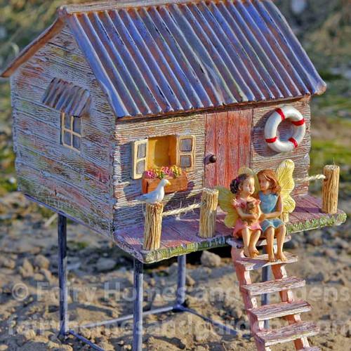 Fairy Beach House Shown with Fairy Sisters