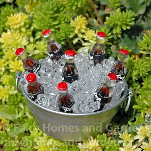 Miniature Tub of Soda Pop on Ice