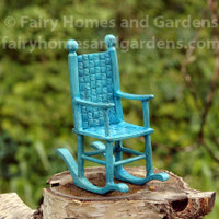 Miniature Blue Rocking Chair