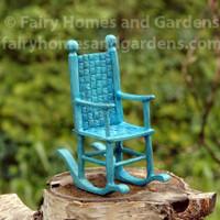 Miniature Blue Rocking Chair