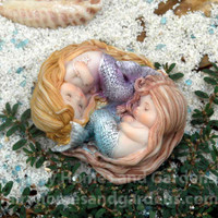Sleeping Little Mermaid Friends Miniature Collectible
