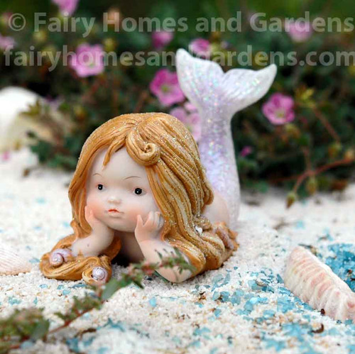 Little Glitter Mermaid Reclining