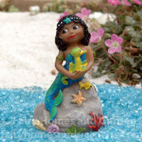 "Miniature Dark-Skinned Mermaid ""Millie""."