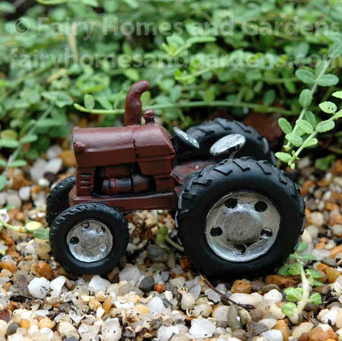 Miniature Dark Red Tractor