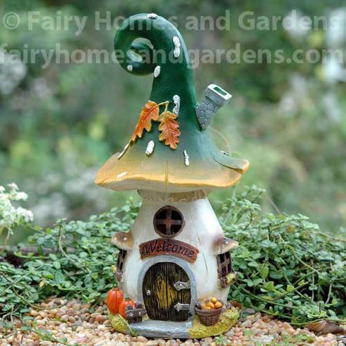 Curled Top Mushroom Fairy House