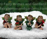 Christmas Fairy Figurines - Set of Four