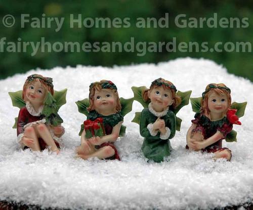 Christmas Fairy Figurines - Set of Four