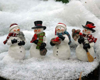 Miniature Snowmen and Snow Gals - Set of Four